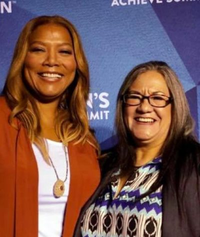 Chief Anne Richardson and Queen Latifa